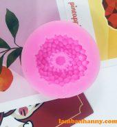 Khuôn silicon 4D hình hoa cúc