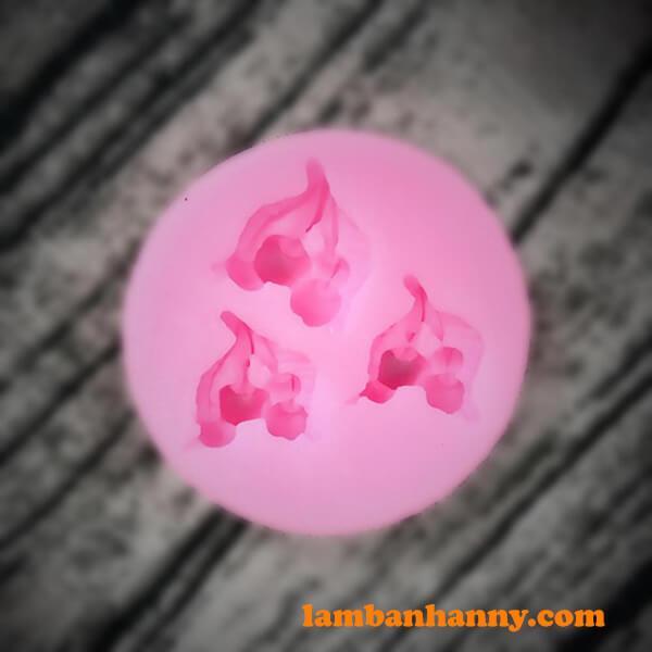 Khuôn silicon 4D hình quả cherry