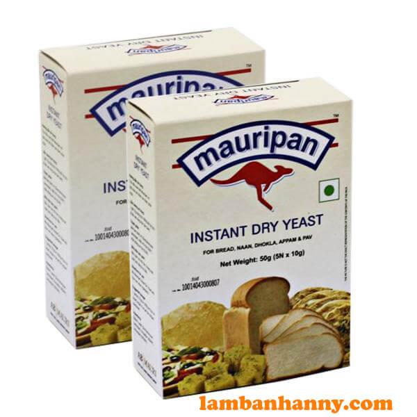 Men Mauripan hộp 50g thích hợp với các loại bánh mì, vỏ bánh bao, đế bánh pizza...