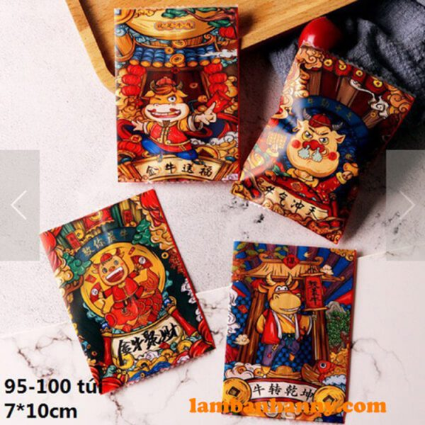 Túi đựng bánh Tết Tân Sửu - Mẫu 1