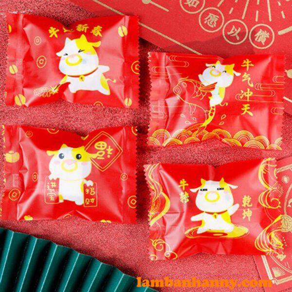 Túi đựng bánh Tết Tân Sửu - Mẫu 2
