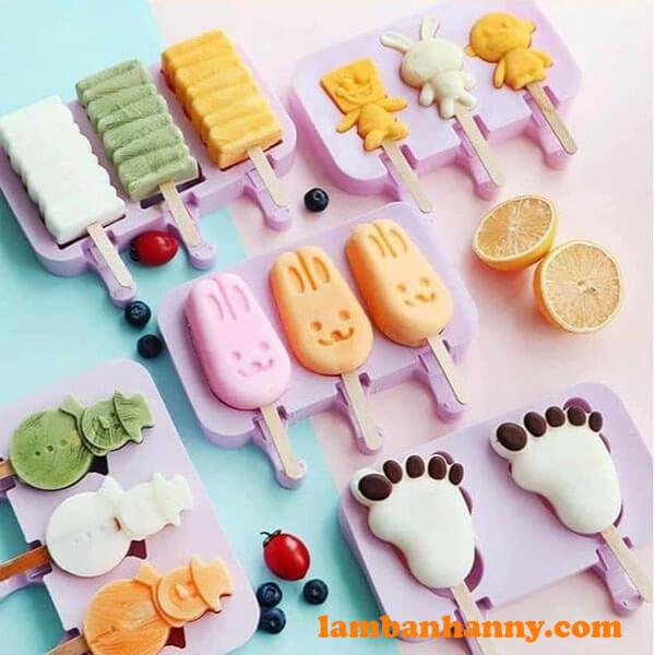 Tại Anny Shop có đa dạng các kiểu loại khuôn silicon làm kem cho bạn lựa chọn