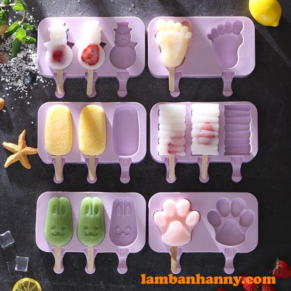 Tại Anny Shop có đa dạng các kiểu loại khuôn silicon làm kem với kiểu dáng rất độc đáo