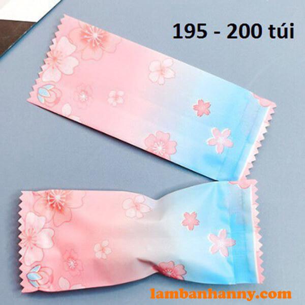 Vỏ kẹo Nougat hồng xanh - lốc 200 cái