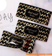 Vỏ kẹo Nougat sọc vàng đen – lốc 200 cái