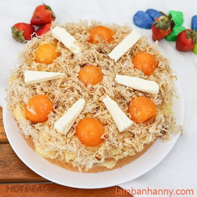 bánh bông lan trứng muối tròn
