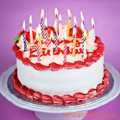 bánh sinh nhật trang trí đường vân