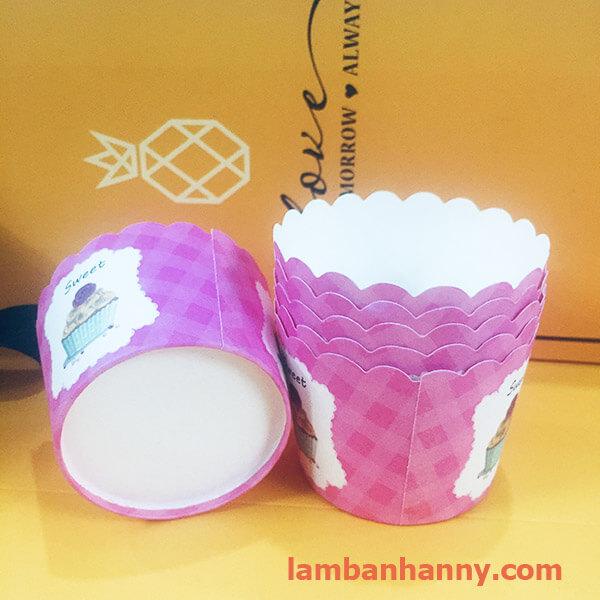 cup giấy hình cupcake 5cm-50 chiếc