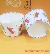 Cup giấy hình món quà 5cm-50 chiếc