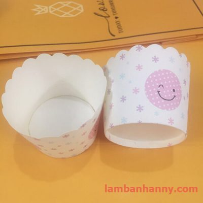 cup giấy hình mặt cười 5cm-50 chiếc