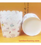 Cup giấy hình quả chuối 5cm-50 chiếc
