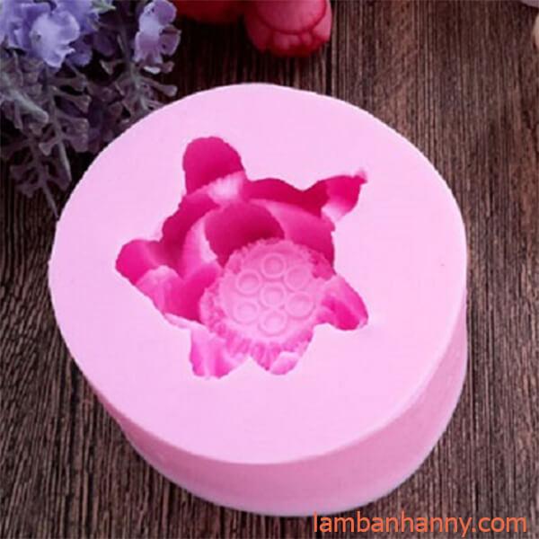 khuôn silicon 4D hình hoa sen