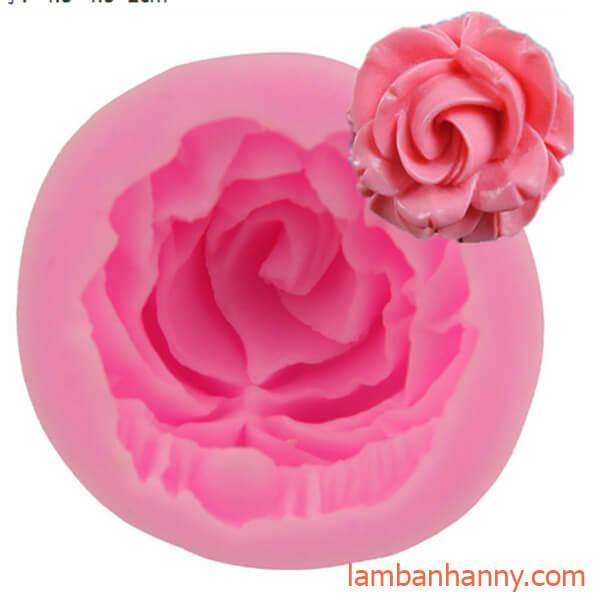 khuôn silicon 4D hoa hồng
