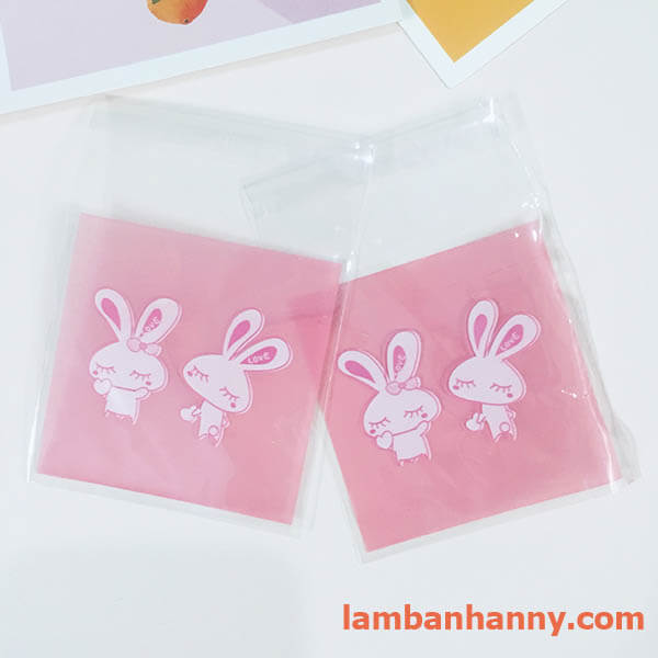 túi đựng bánh hình 2 con thỏ 2