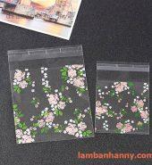 Túi đựng bánh hình hoa hồng 7x7cm