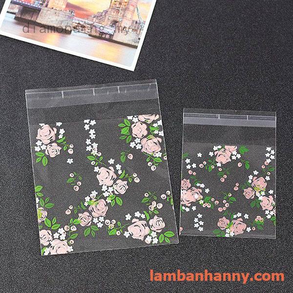 túi đựng bánh hình hoa hồng 7x7cm 2