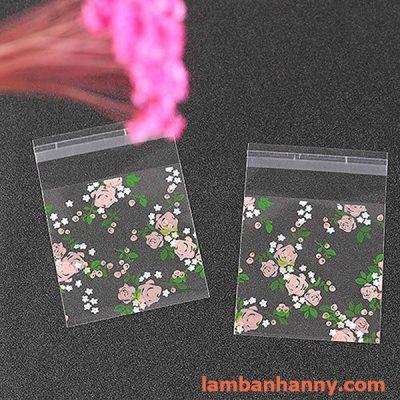 túi đựng bánh hình hoa hồng 7x7cm 3