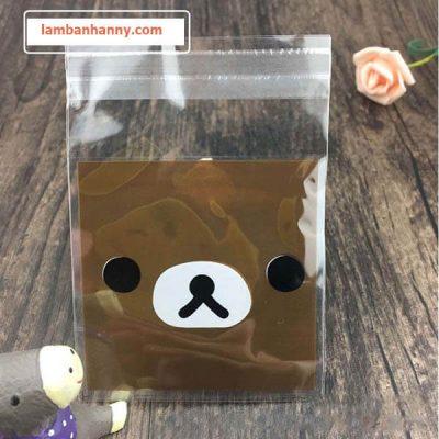 túi đựng bánh hình mặt gấu 1