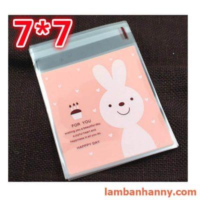 túi đựng bánh hình thỏ 7x7cm (1)