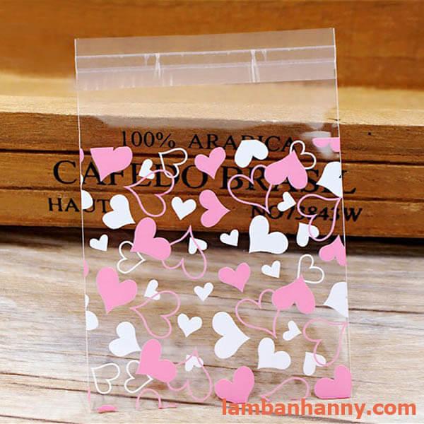 túi đựng bánh hình trái tim 7x7cm 4