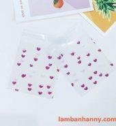 Túi đựng bánh hình trái tim mini 7x7cm