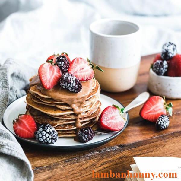Bánh pancake cho bữa sáng lành mạnh