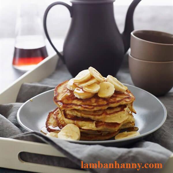 bánh pancake chuối yến mạch