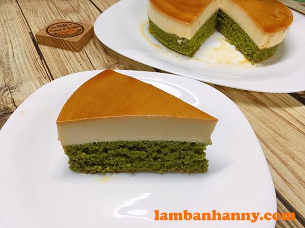 Biến tấu với món bánh Flan Matcha Caramel
