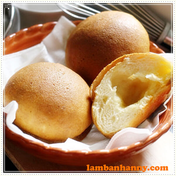 Nhân bơ sẽ khiến bánh có phần lõm bên trong