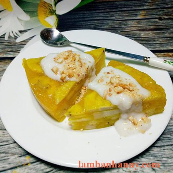 bánh chuối hấp nước cốt dừa miền tây