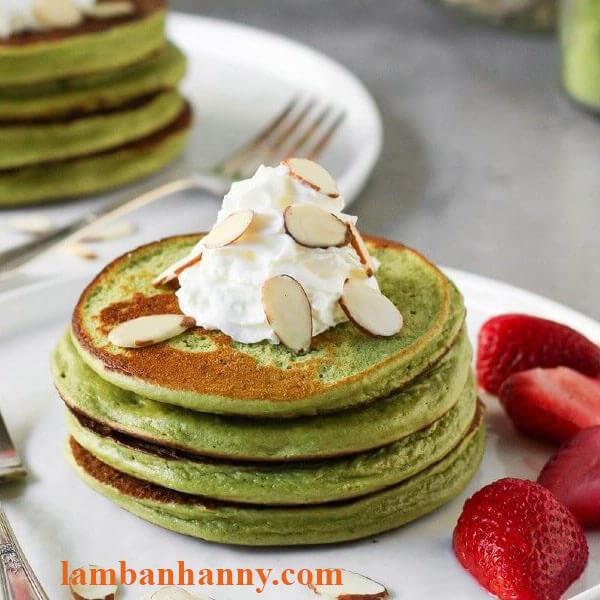 bánh pancake trà xanh