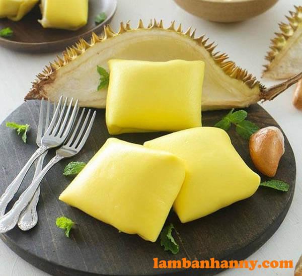 Bánh Crepe sầu riêng