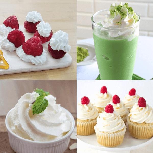 Whipping Cream là nguyên liệu có trong nhiều món tráng miệng