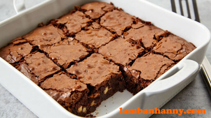 Bánh Brownie socola tan chảy