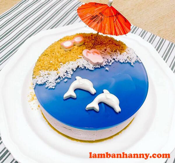 Bánh Cheesecake biển xanh
