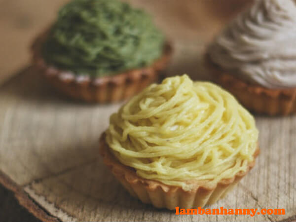 Bánh Mont Blanc có thể được biến tấu với nhiều sáng tạo khác