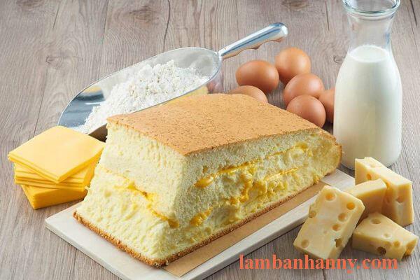 Bánh bông lan phô mai đài loan