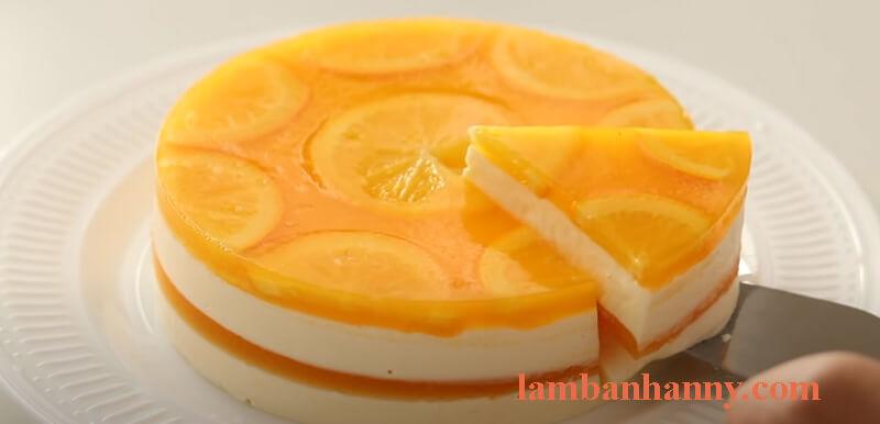 Bánh cheesecake cam