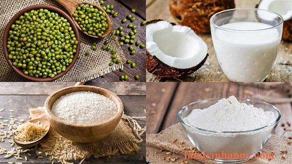 Cách làm bánh đúc lá lúa - đậu xanh nước cốt dừa mỡ hành thơm ngon béo ngậy 8