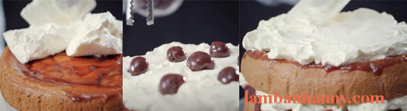 Cách làm bánh Black Forest gato rừng đen thơm ngon đơn giản 7