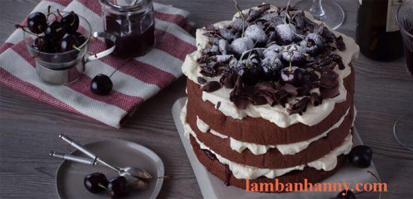 Cách làm bánh Black Forest gato rừng đen thơm ngon đơn giản 9