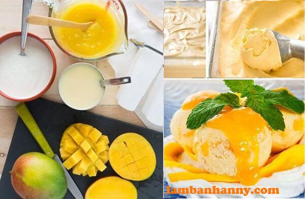 Cách làm kem xoài cực kì đơn giản