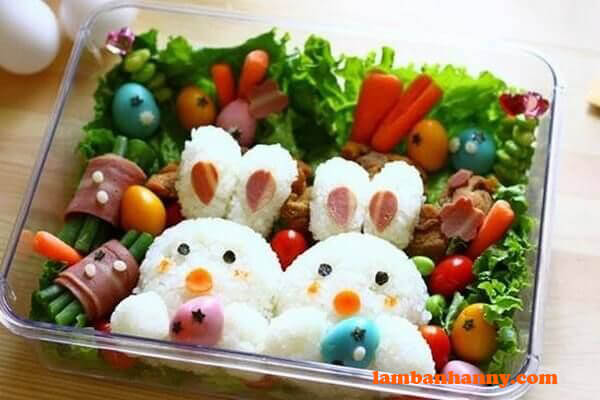 Hộp cơm bento hình con thỏ