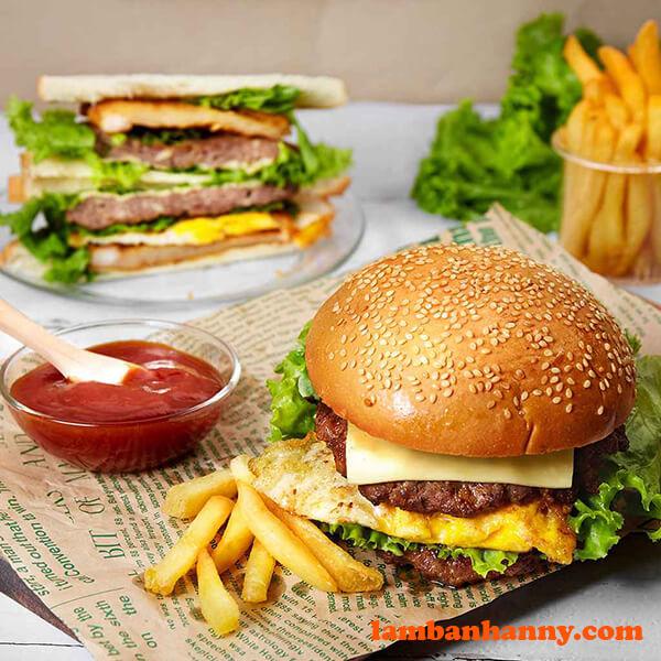 Hamburger bò phô mai