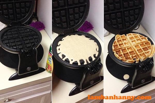 Nướng bánh bằng máy rất tiện dụng