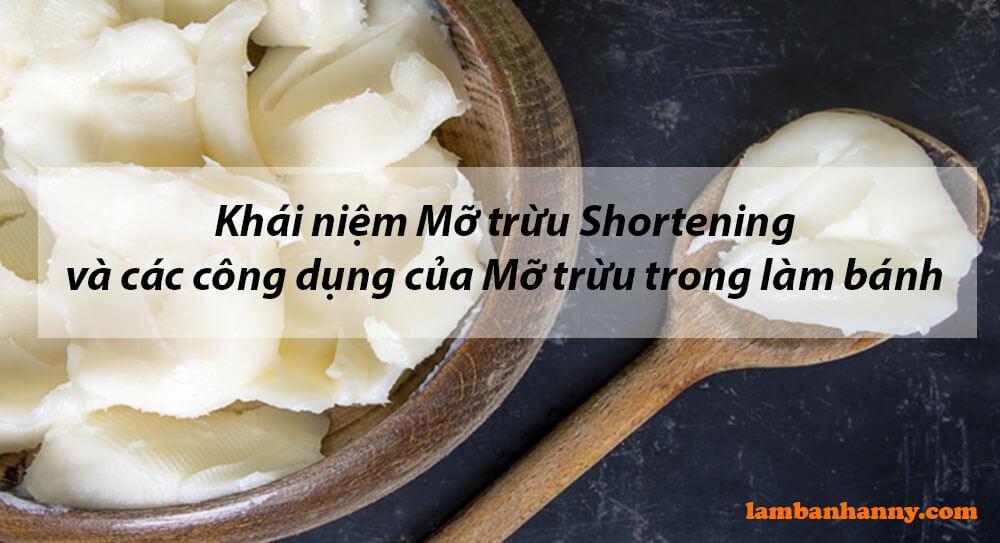 Khái niệm Mỡ trừu Shortening và các công dụng của Mỡ trừu trong làm bánh