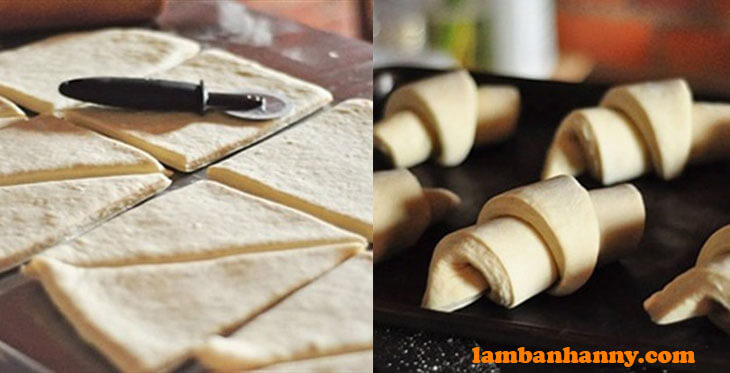 Tạo hình bánh sừng trâu