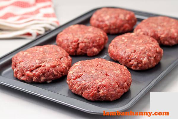 Thịt xay làm hamburger
