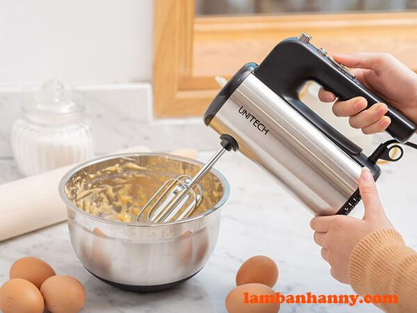 Thao tác sử dụng máy đánh trứng Unitech HU-3110
