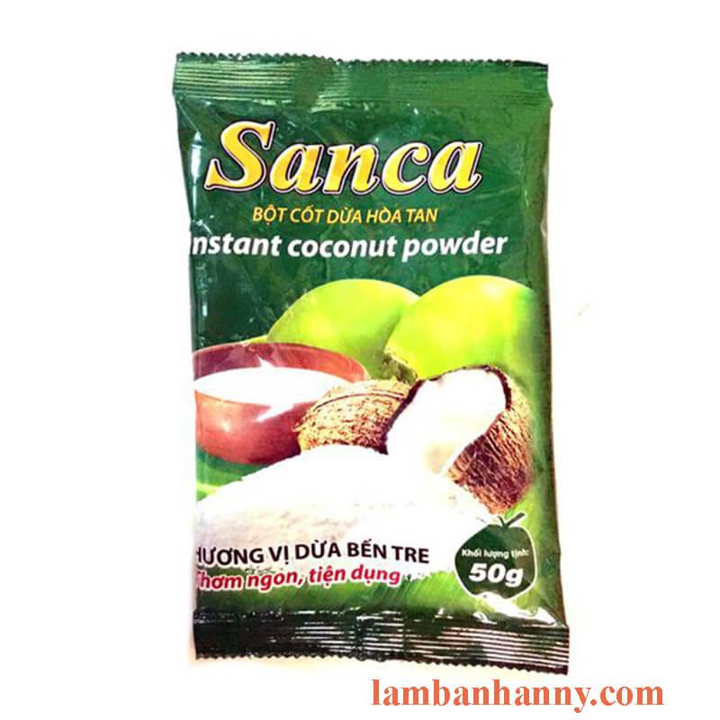 bột nước cốt dừa sanca